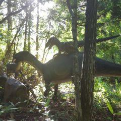 朝しか見れない幻想的な恐竜たち